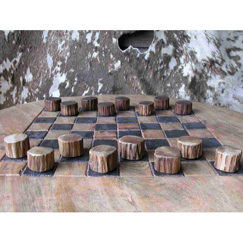 Teak Wood Checker Set