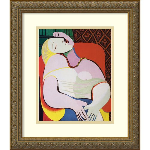 'The Dream' by Pablo Picasso Framed Graphic Art