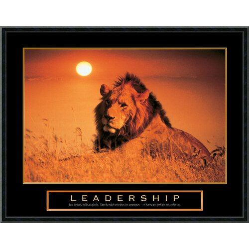 Amanti Art Leadership - Lion Framed Photographic Print