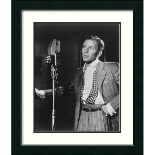 'Golden Age of Jazz, Frank Sinatra' by William P. Gottlieb Framed Photographic Print