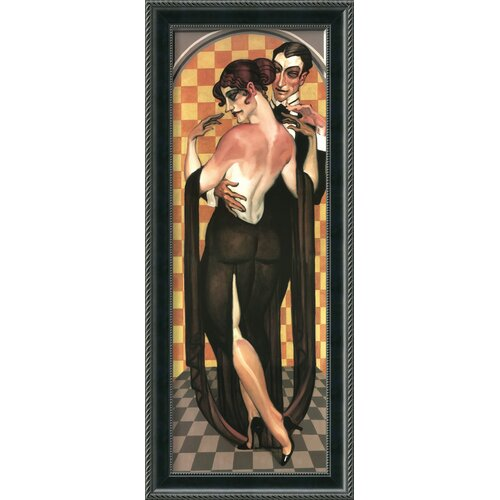 'Art Deco Evening' by Juarez Machado Framed Painting Print