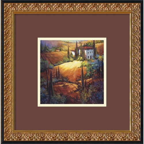 Amanti Art 'Morning Light Tuscany' by Nancy O'Toole Framed Painting Print