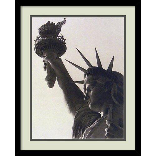 Amanti Art Statue of Liberty Framed Photographic Print