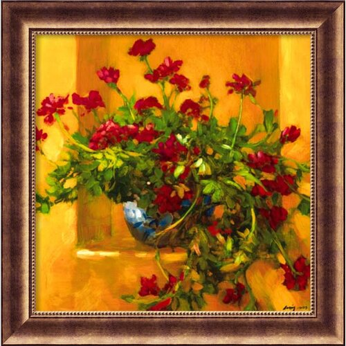 'Ivy Geraniums' by Philip Craig Framed Painting Print
