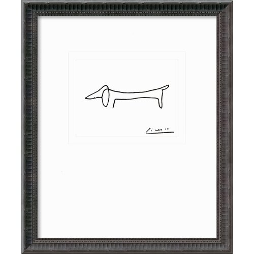 Amanti Art 'Le Chien (The Dog)' by Pablo Picasso Framed Graphic Art