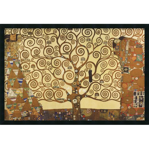Amanti Art 'The Tree of Life, 1905-1911' by Gustav Klimt Framed Painting Print
