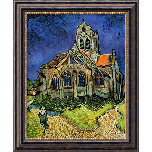 'Church at Auvers' by Vincent Van Gogh Framed Painting Print