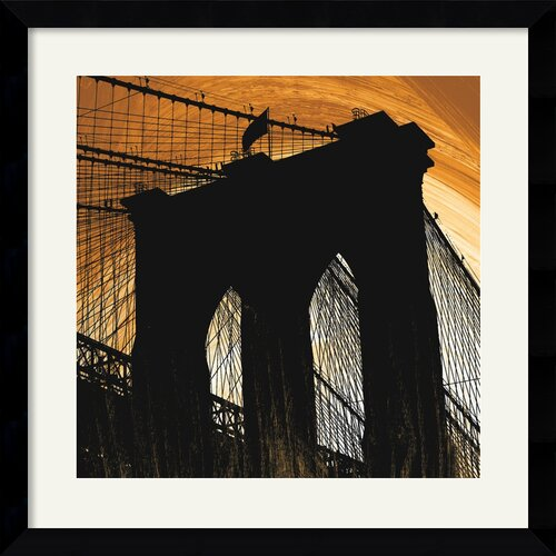 'Brooklyn Glow' by Erin Clark Framed Painting Print
