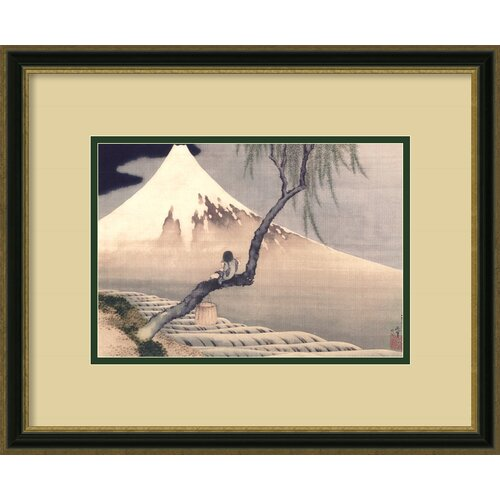 Amanti Art 'Boy on Mount Fuji' by Katsushika Hokusai Framed Painting Print