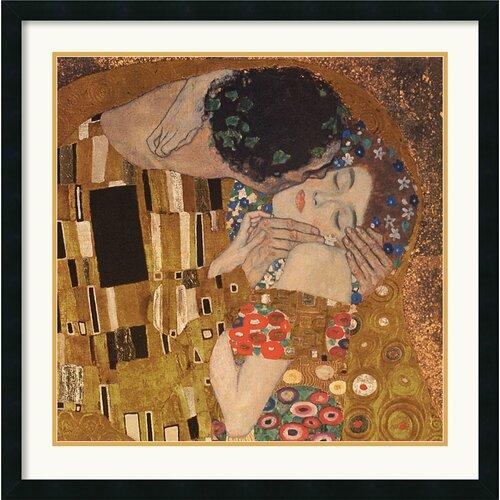 Amanti Art 'The Kiss (detail), 1907' by Gustav Klimt Framed Painting Print