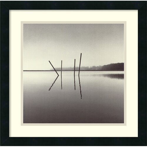 'Poles, Salt Ponds, Moss Landing, California, USA 1989' by Michael Kenna Framed Photographic Print