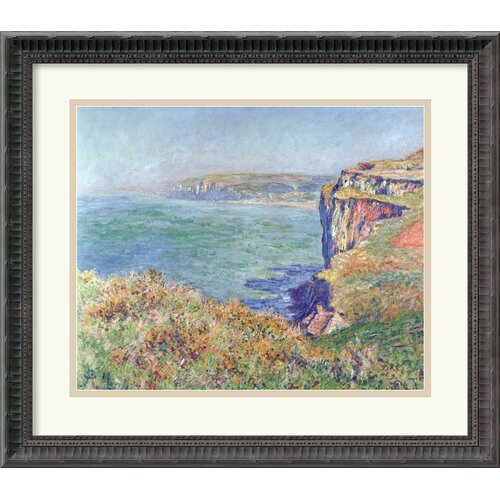 Amanti Art 'The Cliff at Varengeville, 1882' by Claude Monet Framed Painting Print