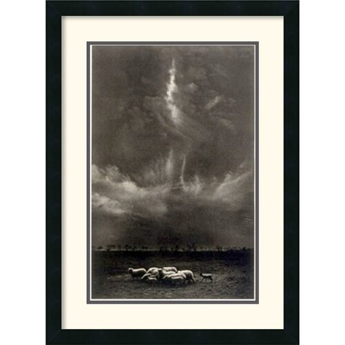 'Sheep Under Clouds, 1958' by Harold Feinstein Framed Photographic Print