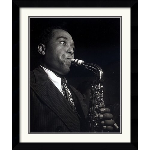Amanti Art 'Charlie Parker' by William P. Gottlieb Framed Photographic Print