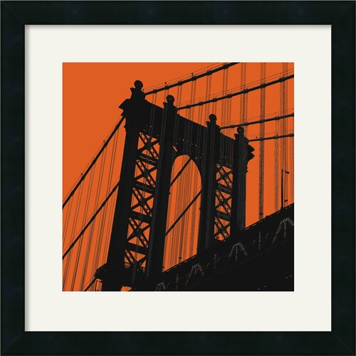 Amanti Art 'Orange Manhattan' by Erin Clark Framed Graphic Art
