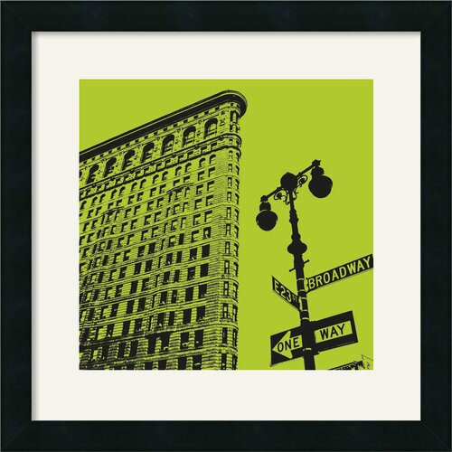 'Acid Flatiron' by Erin Clark Framed Graphic Art