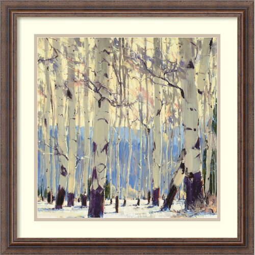 Amanti Art 'December Aspen' by William Hook Framed Painting Print