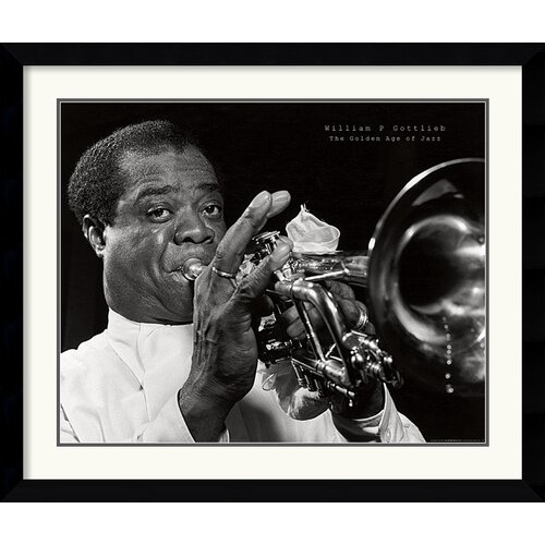 'Louis Armstrong' by William P. Gottlieb Framed Photographic Print