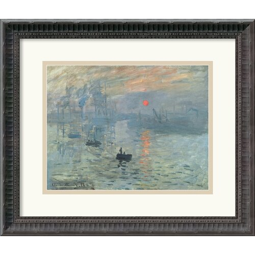 Amanti Art 'Impressions at Sunrise' by Claude Monet Framed Painting Print