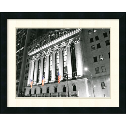 'New York Stock Exchange at Night' by Phil Maier Framed Photographic Print