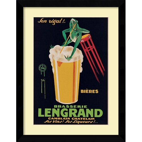 Amanti Art 'Lengrand Brewery' by G. Piana Framed Vintage Advertisement