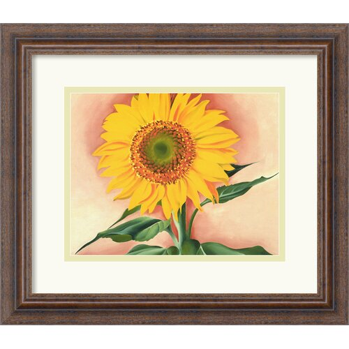 'A Sunflower from Maggie' by Georgia O'Keeffe Framed Painting Print