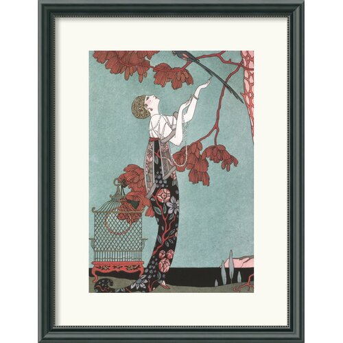 Amanti Art 'Fashion Illustration' by George Barbier Framed Painting Print