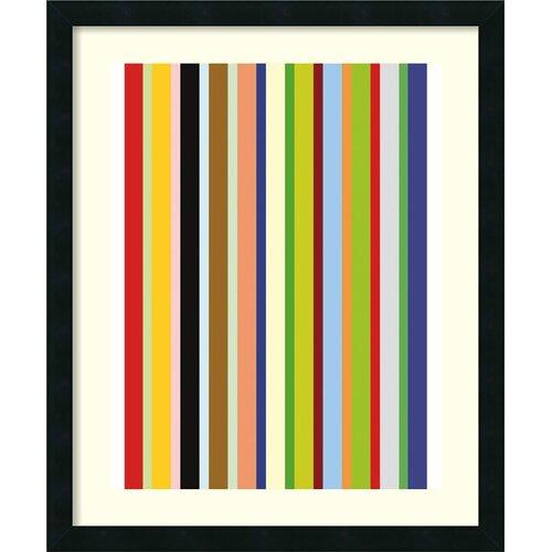 'Candy Stripe' by Ron Bleier Framed Graphic Art