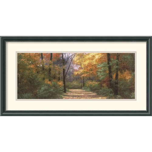 'Autumn Road Panel' by Diane Romanello Framed Painting Print