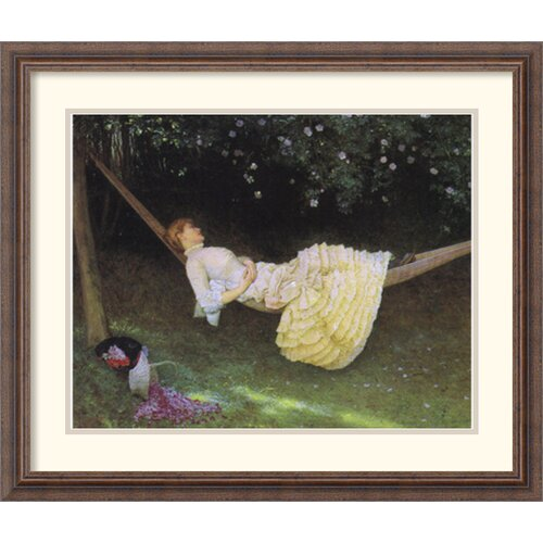 Amanti Art 'The Hammock' by Edward Killingworth Johnson Framed Painting Print