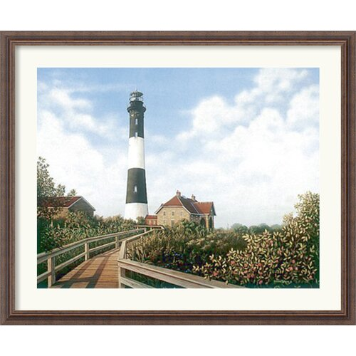 Amanti Art 'West Channel Lighthouse' by Daniel Pollera Framed Painting Print