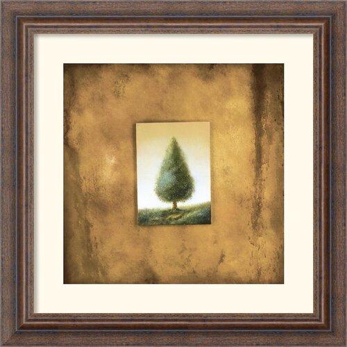Amanti Art 'Green Tree' by Scott Duce Framed Graphic Art