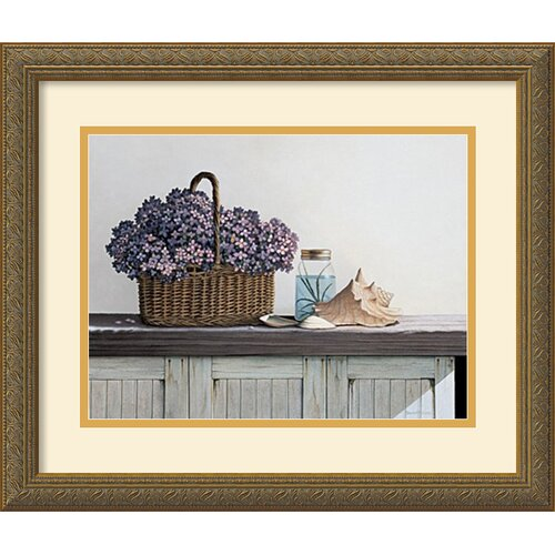 'Still Life with Flowers' by Daniel Pollera Framed Painting Print