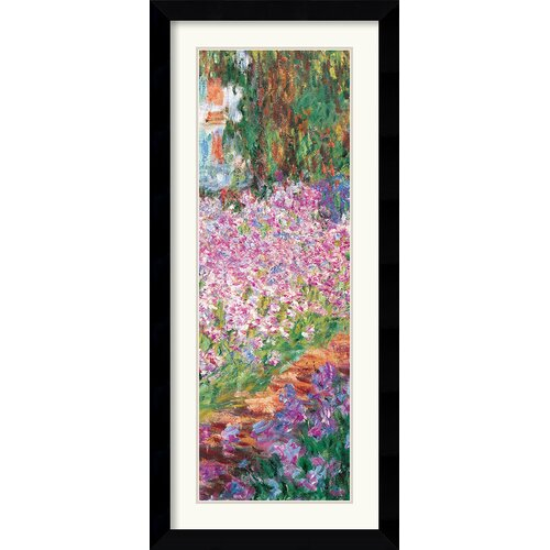 'Garden in Giverny (Detail)' by Claude Monet Framed Painting Print