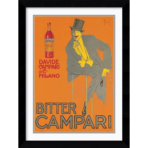 Bitter Campari Framed Vintage Advertisement