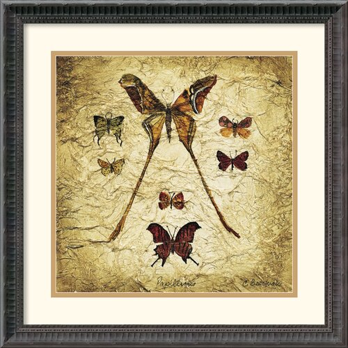 Amanti Art 'Papillons IV' by Claudette Beauvais Framed Graphic Art