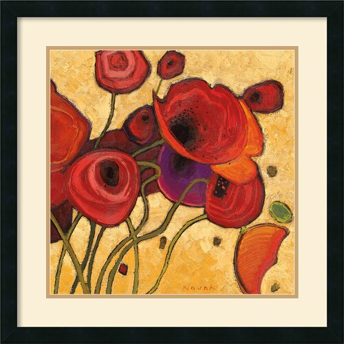 Amanti Art 'Poppies Wildly II' by Shirley Novak Framed Painting Print