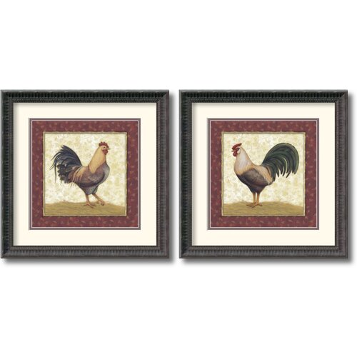 Amanti Art 'Feathers' by Daphne Brissonnet 2 Piece Framed Painting Print Set