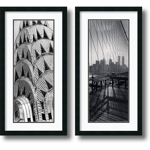 'New York Panels' by Torsten Andreas Hoffman 2 Piece Framed Photographic Print Set