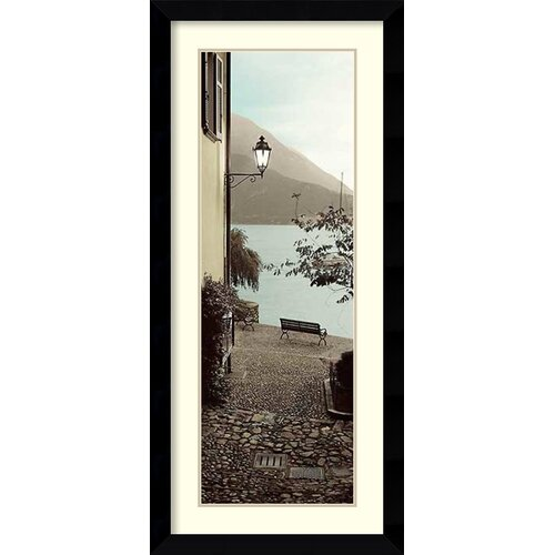 'Panchina di Lago' by Alan Blaustein Framed Art Print