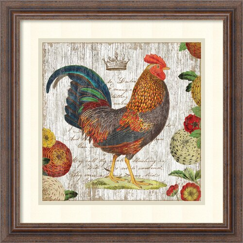 'Rooster I' by Suzanne Nicoll Framed Vintage Advertisement