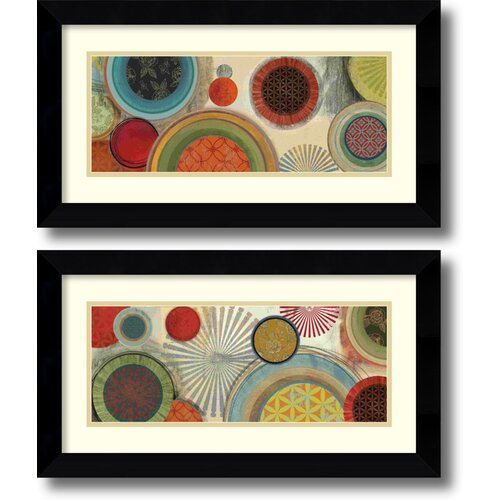 'Commotion' by Tom Reeves 2 Piece Framed Art Print Set