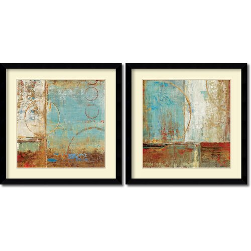 'Composition I and II' by Carmen Dolce 2 Piece Framed Art Print Set