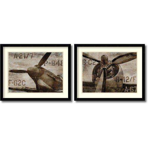 Vintage Airplane Wall Art | Wayfair