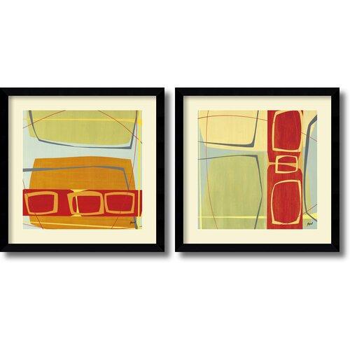 'Concentric' by Danielle Hafod 2 Piece Framed Art Print Set