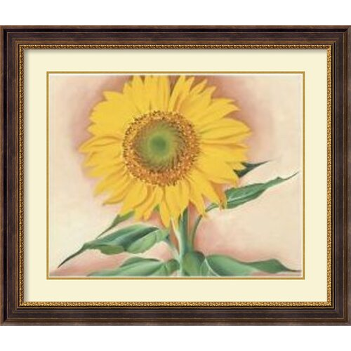 'A Sun Flower from Maggie, 1937' by Georgia O' Keeffe Framed Painting Print