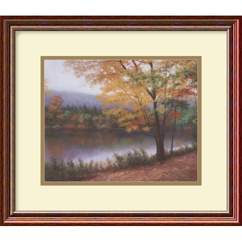'Golden Autumn' by Diane Romanello Framed Painting Print