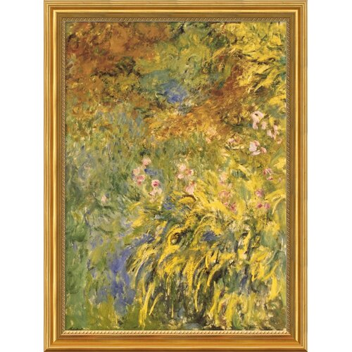 Amanti Art 'Irises' by Claude Monet Framed Painting Print