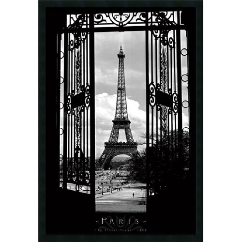 Amanti Art Eiffel Tower 1909 Framed Photographic Print