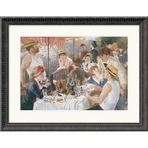 Amanti Art 'Luncheon of the Boating Party' (Dejeuner Des Canotiers) by Pierre Auguste Renoir Framed Painting Print